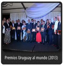 PREMIOS URUGUAY AL MUNDO 2013
