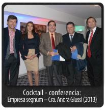 Cocktail - conferencia: Empresa segnum – Cra. Andra Giussi